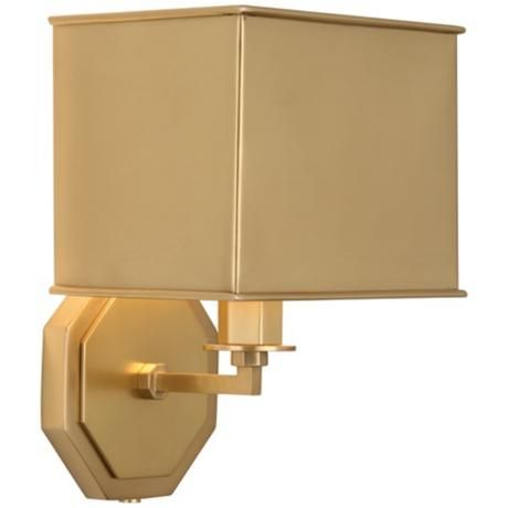 Wall Sconces Plug In : Pythagoras Matte Brass Plug-In Wall Sconce