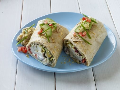 Tofu Hummus Wrap | Dinner | Pinterest