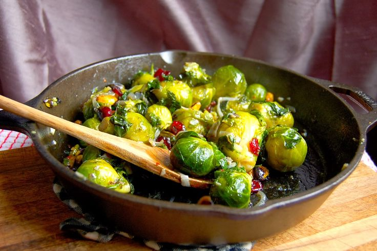 Roasted Brussels Sprouts With Cranberry Pistachio Pesto Recipes ...