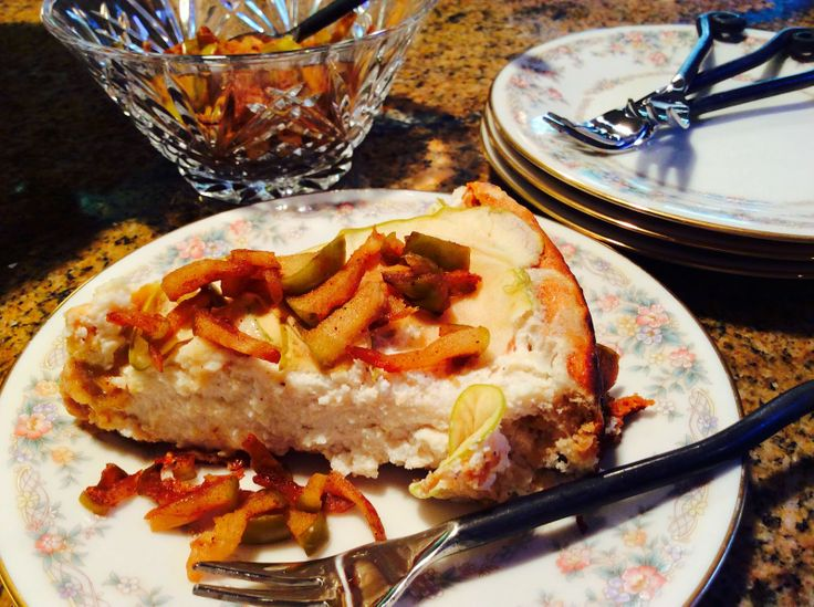Food Fitness by Paige: Apple Pie Cheesecake with Vanilla Ice Cream