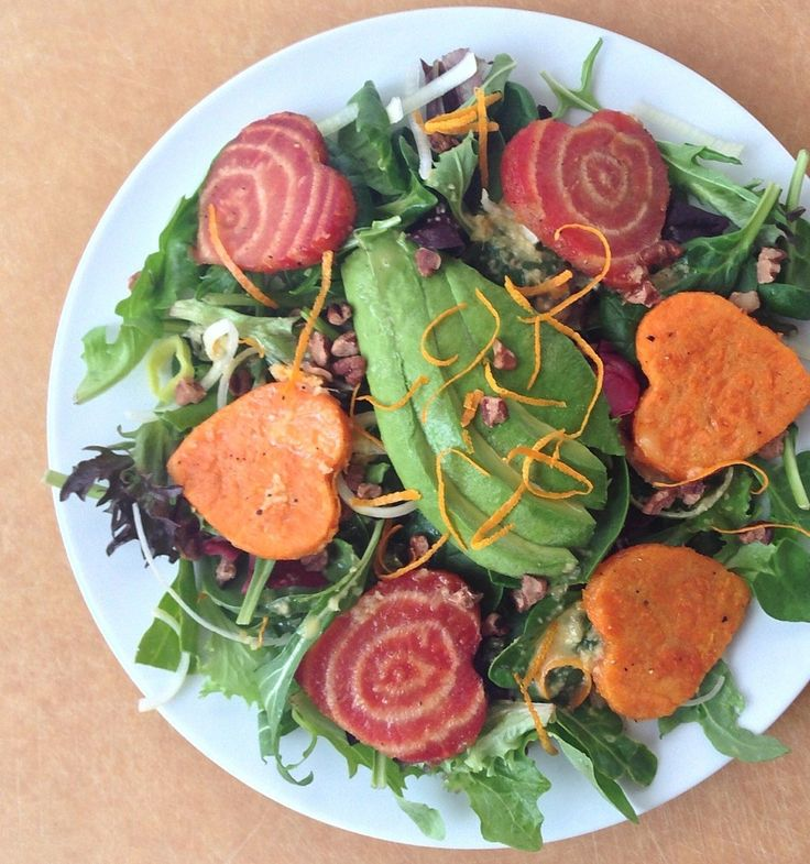 Roasted Beet and Sweet Potato Salad with an Orange Ginger Dressing ...