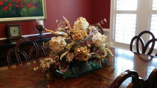Dining Room Table Arrangement Silk Flower Arrangements