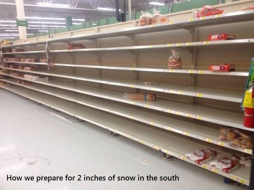 How we prepare for 2 inches of snow in the south