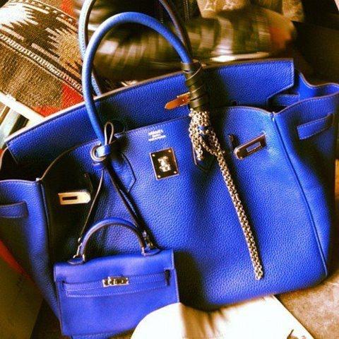 Cobalt blue Birkin bag aka The Holy Grail of Handbags
