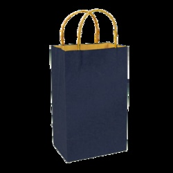 Paper Shoppers - Navy Blue Recycle. These bags are eco-chic!