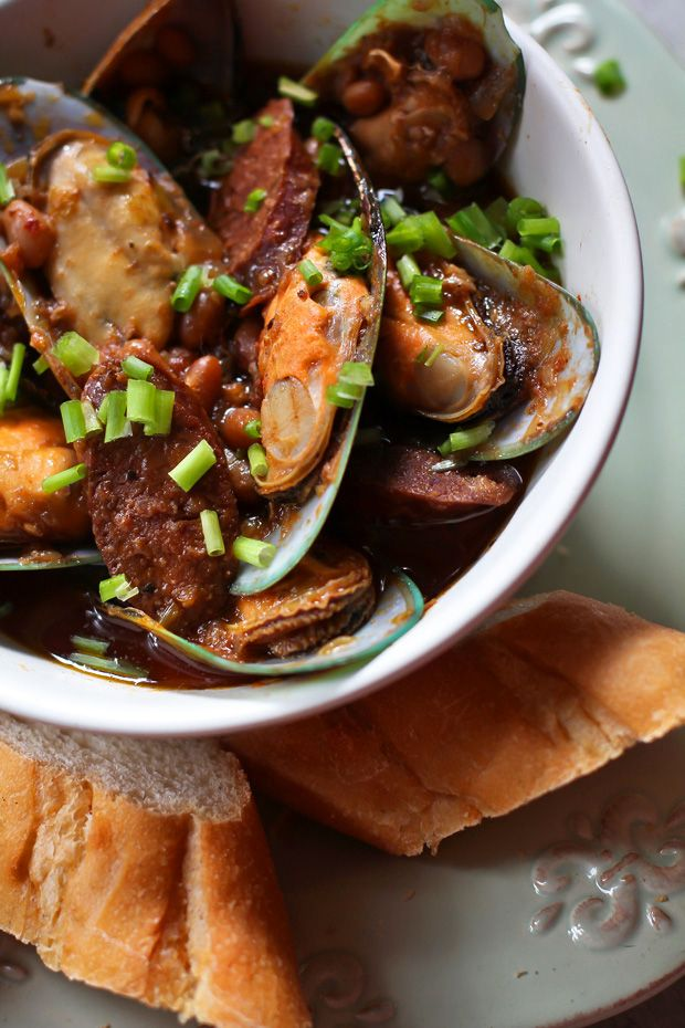 Mussels with Chorizo and White Beans‏ | Culinary Delights ...