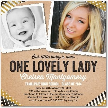 Lovely Crafting - #Graduation Invitations - Hello Little One.