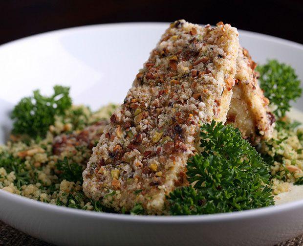 Pistachio-Crusted Tofu with Horseradish Cream Recipe - RecipeChart.com