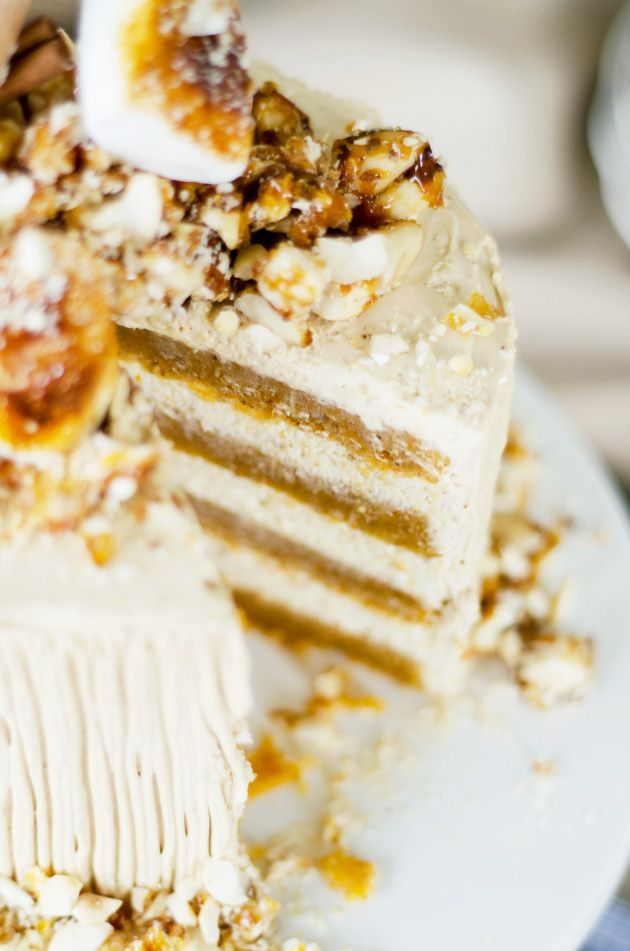 Sweet Potato Cake with Brown Sugar Whipped Cream Cheese Frosting and ...