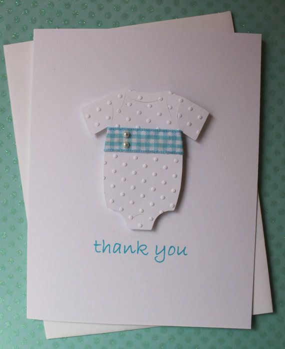 handmade baby shower thank you congratulations gift card white