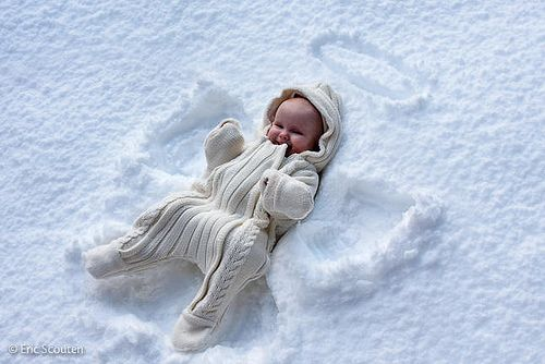 the cutest snow angel ever!