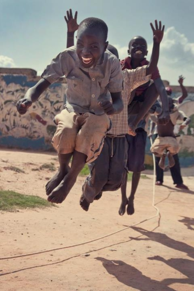 Happiness is jumping rope. | Children, A sad hard life ...