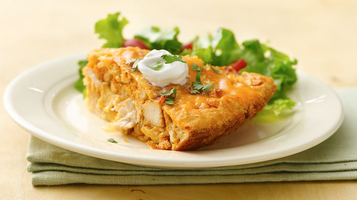 Impossibly Easy Chicken Taco Pie | Dinner | Pinterest