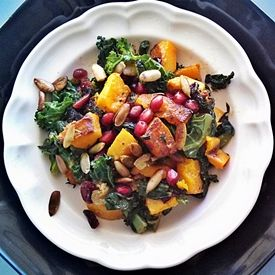 ... sauteed Kale, Swiss Chard, dried Cranberries and Pomegranate Seeds
