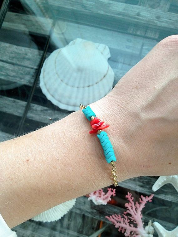 Marine Park Bracelet by adjewelry on Etsy, $18.00 #armparty #coral