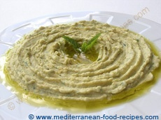 Mediterranean Hummus, I jazz mine up and top it with kalamata olives ...