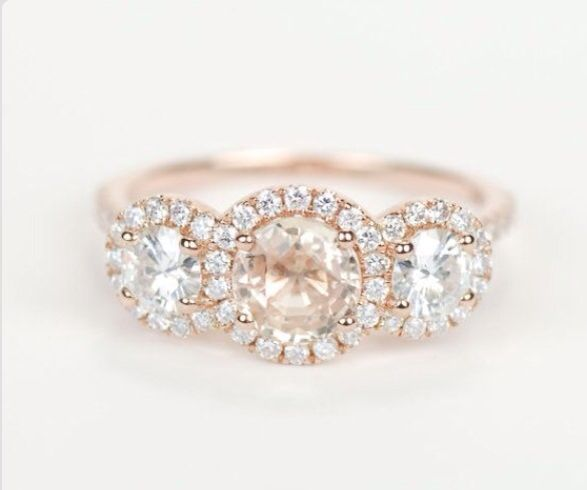 Simple Rose Gold Engagement Rings