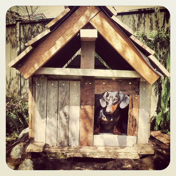 Rustic dog cabin reclaimed wood dog house on etsy 275 00