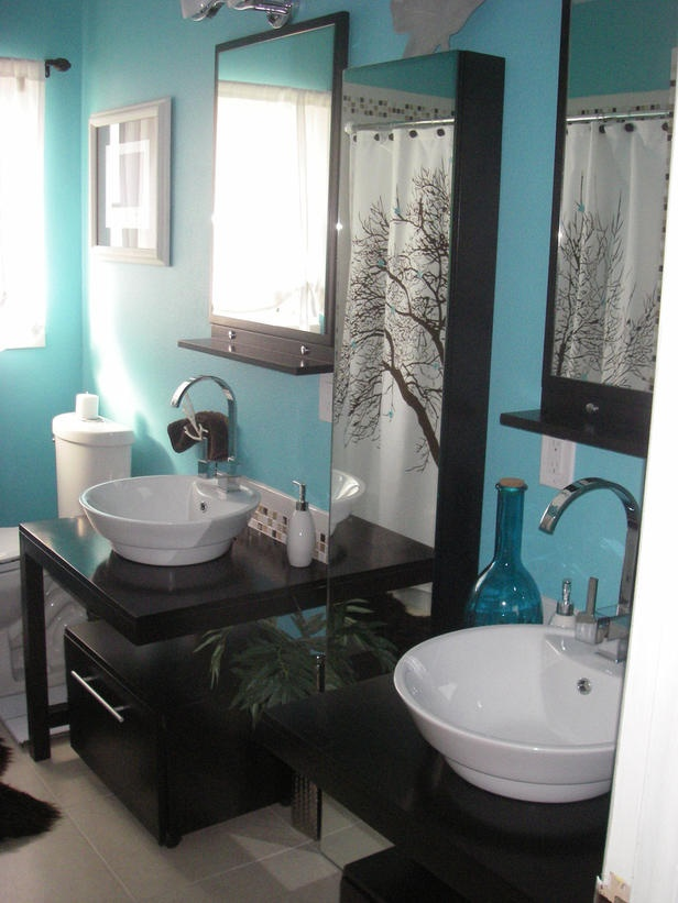 8 great vanities from rate my space - Tiffany blue bathroom ideas ...