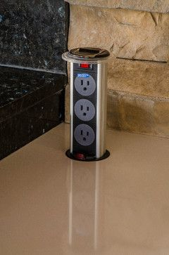 genius-electrical outlet in countertop For the Home Pinterest