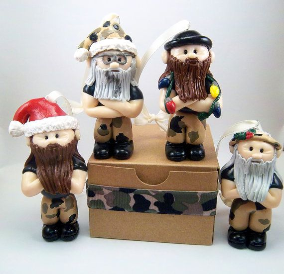 Duck Dynasty Inspired Polymer Clay Christmas by CollisionofClay, $50