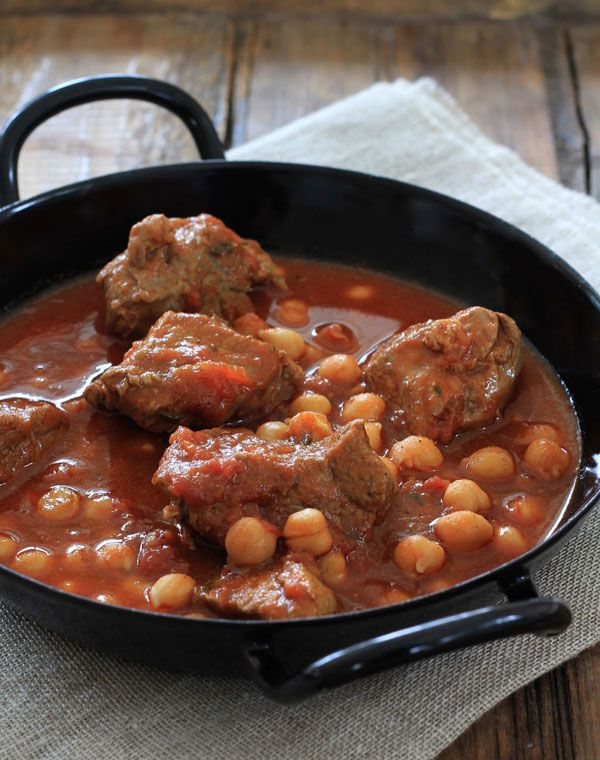 Spicy Lamb Stew with Chickpeas