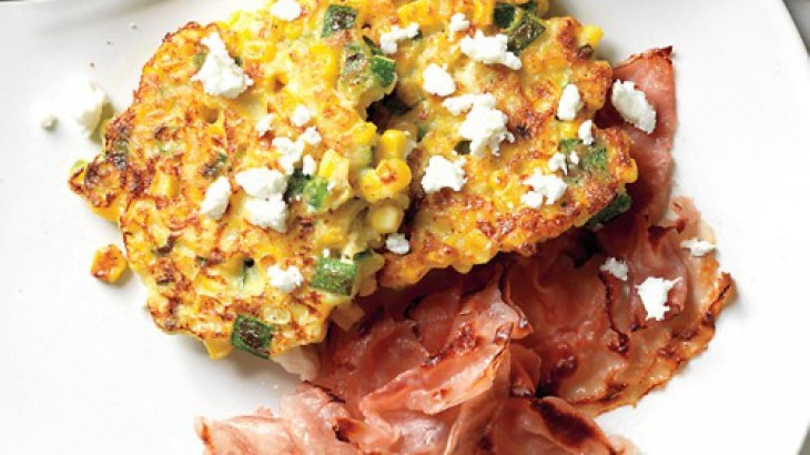Corn Cakes with Goat Cheese | Fritters&cakes | Pinterest
