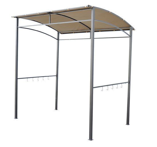 Grill Shelter Barbecue Gazebo Curved Patio Canopy Yard Shade w Hooks