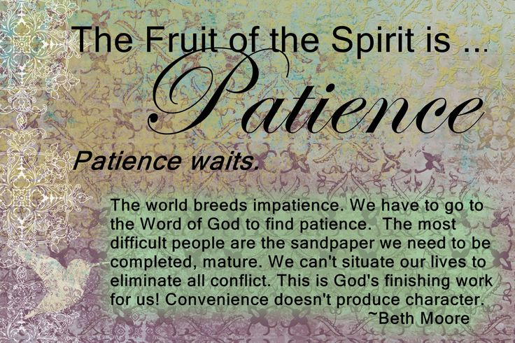 patience and longsuffering The words 'erekh 'appayim, translated longsuffering, mean literally, long of   and makrothumia is that the latter word expresses patience in respect to persons, .