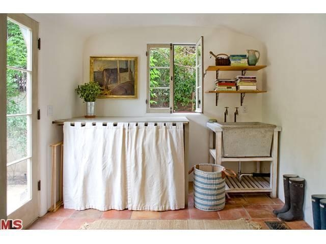 Laundry Tub Cover : ... need to do something to my laundry sink... maybe curtain-y covers