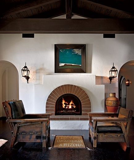 Simple southwest fireplace fireplaces pinterest for Fireplaces southwest