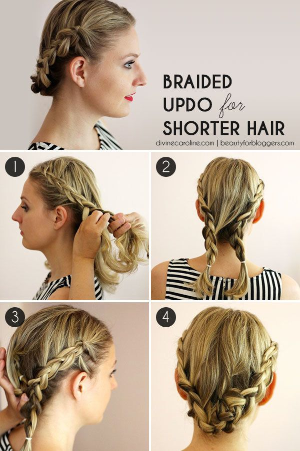 Braided Hairstyles For Short Hair How To : Hairstyle How-To: Easy Braids for Short Hair