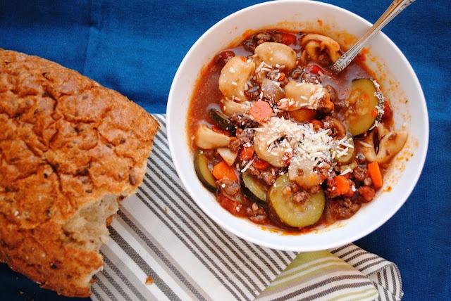 Italian Sausage Tortellini Soup | Daina's kithen table | Pinterest