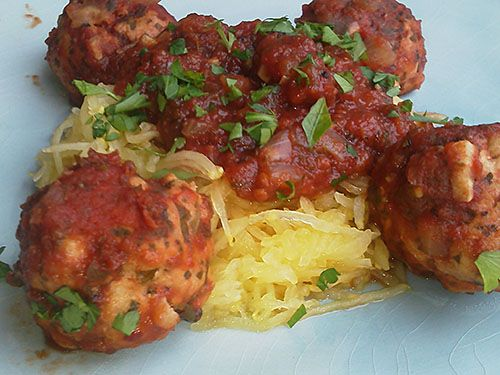 Spaghetti Squash and Meatballs | Low Carb | Pinterest