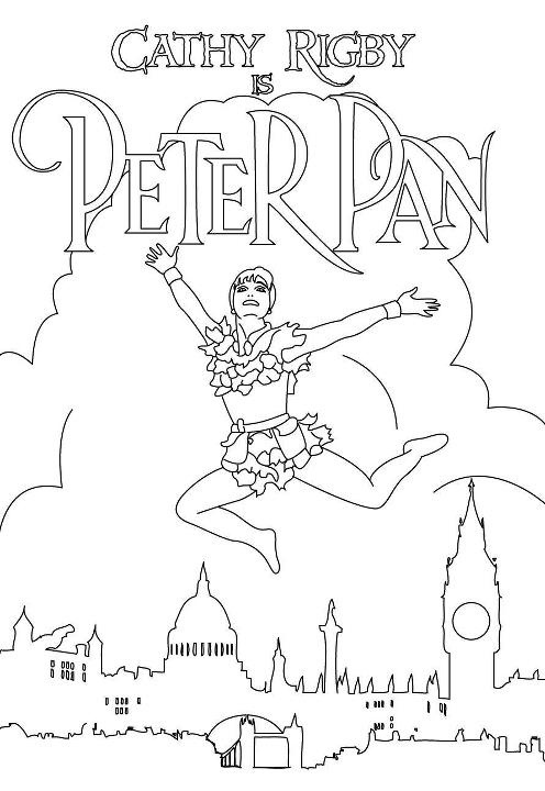 Cathy Rigby is Peter Pan Coloring Page by KnucklesEchidna2011, via Flickr
