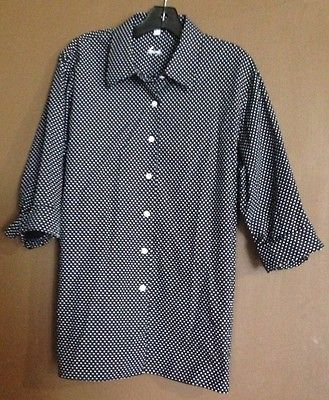 Wrinkle-Free Dot Blouse By Foxcroft 74