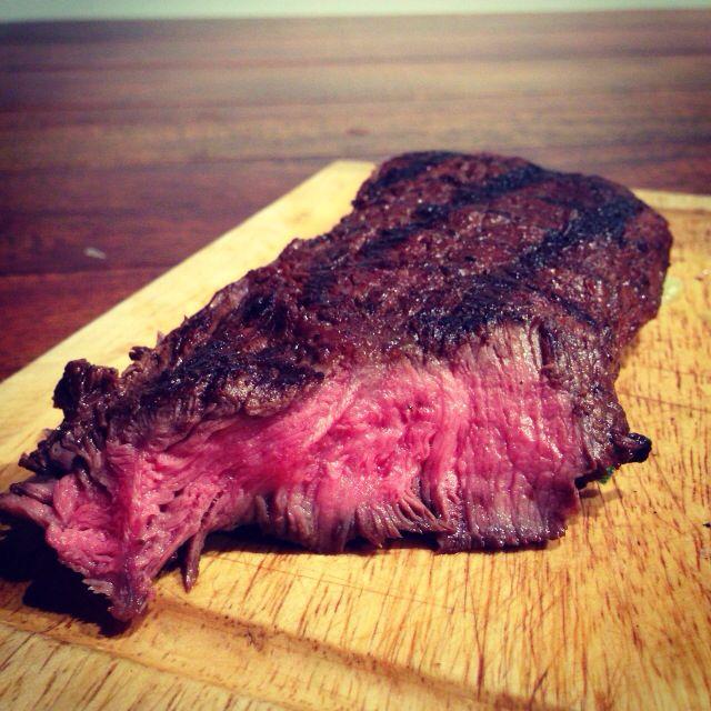 Flat iron steak marinated in chipotle in adobo, ground cumin, Pasilla ...