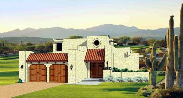 Santa Fe Southwest House Plan 94489