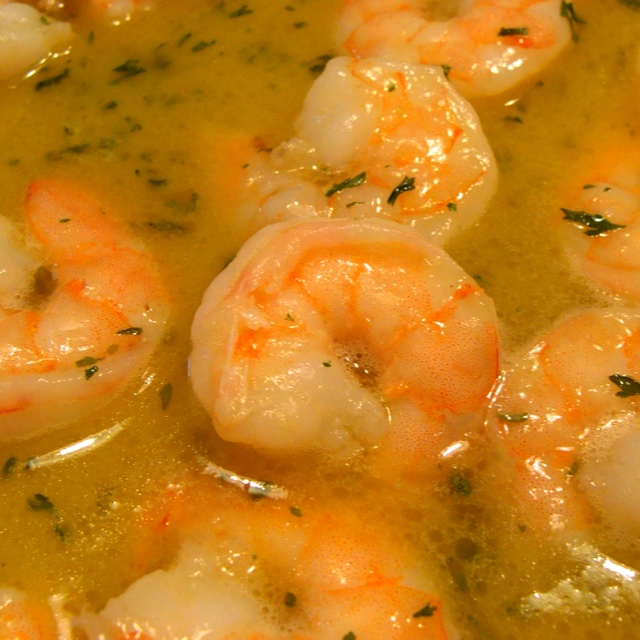 Garlic scampi, homemade. Doin it | Sea Food And Fish | Pinterest