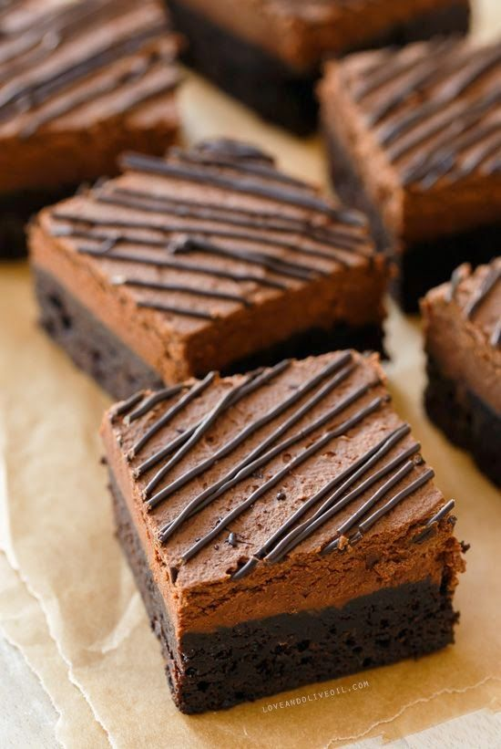 Chocolate Mousse Brownies | yummo!! | Pinterest