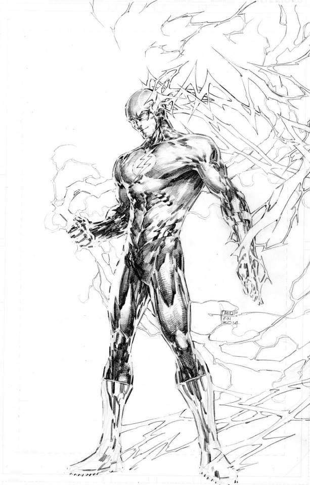 The Flash Line Art : Cw professor zoom coloring pages