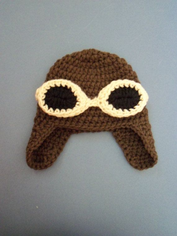 Infant Aviator Hat Crochet Pattern : Crochet Aviator Hat Baby Aviator Hat Baby Pilot Helmet Hat