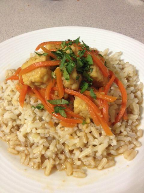 Orange Pan-glazed Tempeh Recipe — Dishmaps