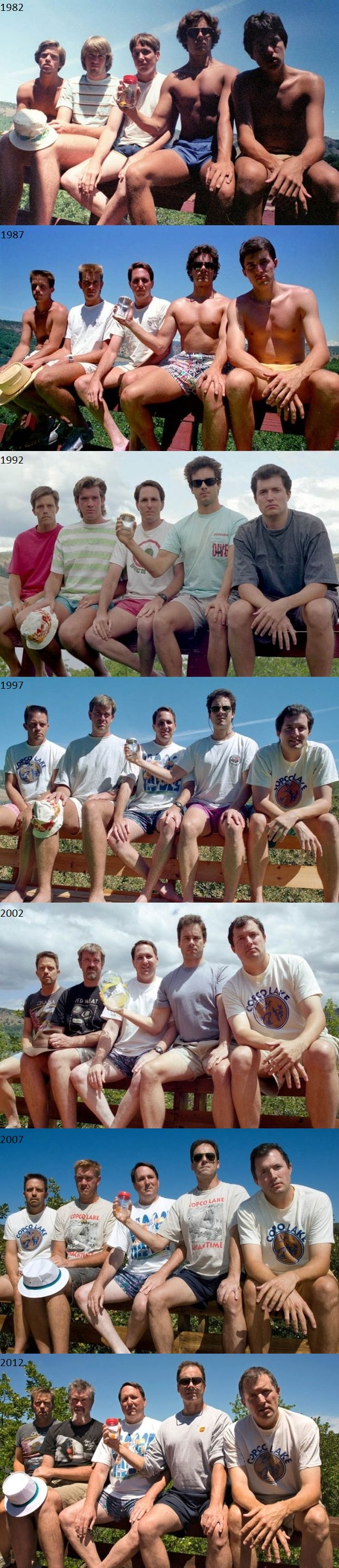 These five friends have taken a picture every 5 years from 1982 to 2012