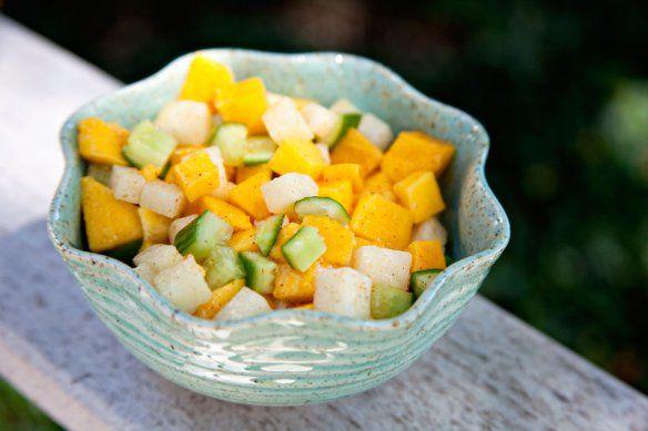 Mango Cucumber Jicama Salad | food | Pinterest