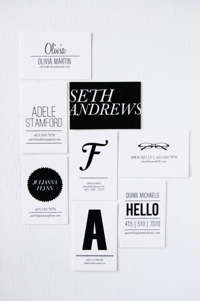 Business & Social Cards designed and printed by In Haus Press, San Francisco, California