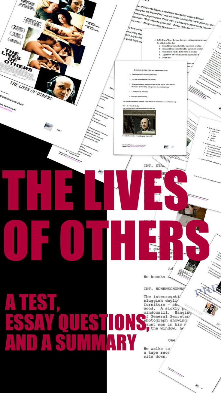 the lives of others film essay