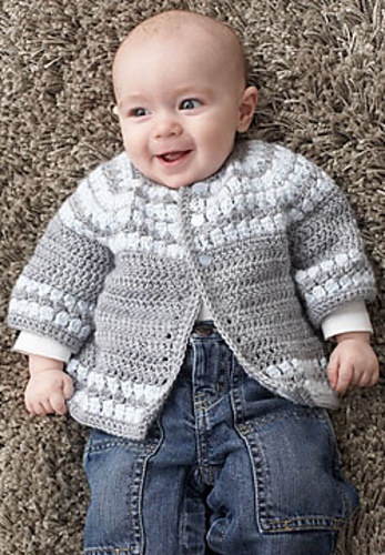 Free Crochet Patterns For Baby Boy Outfits : Free Pattern Ravelry: Cluster Yoke Cardigan pattern by ...