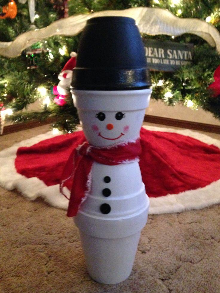 Clay pot snowman we made! | crafts | Pinterest