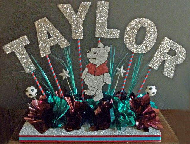 Party in a Box Centerpieces will not be personalized; they will say ...